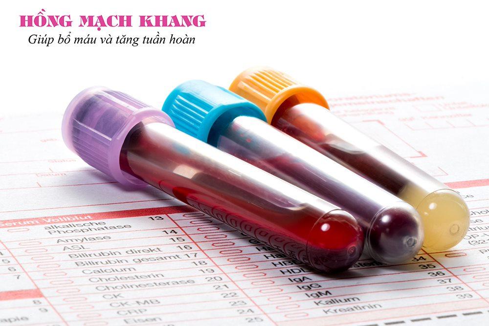 Thiếu máu sau sinh được xác định thông qua xét nghiệm máu